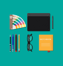 Drawing tools isolated equipment for designer vector