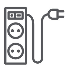 Electric extension line icon energy and plug vector