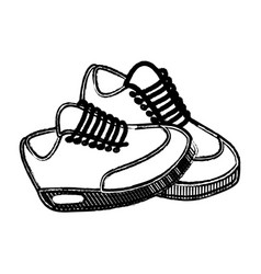 Figure comfortable sneakers fitness vector