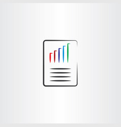 File chart paper document icon vector