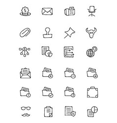 Finance Hand Drawn Doodle Icons 8 vector image