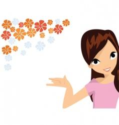 floral elements woman vector image