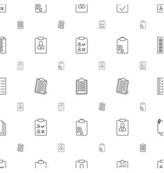 Form icons pattern seamless white background vector