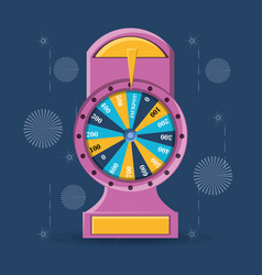 fortune wheel design vector image