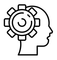 Gearwheel humanoid icon outline style vector