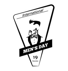 Global men day icon simple style vector