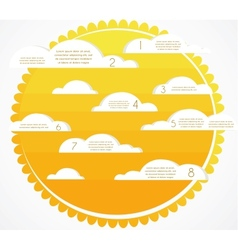 Good weather infographics sky with clouds and sun vector