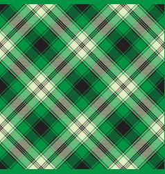 Green check plaid seamless fabric texture vector