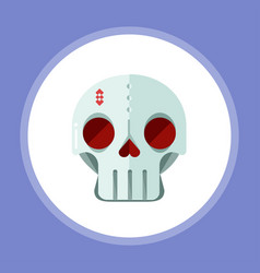 halloween skull icon sign symbol vector image