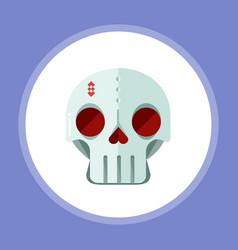 halloween skull icon sign symbol vector image