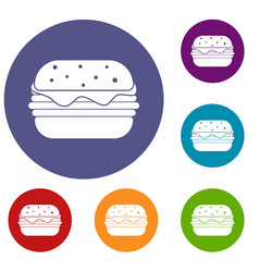 hamburger icons set vector image