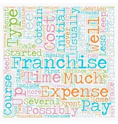 How Much Does A Franchise Cost text background vector