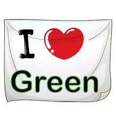 I love green vector