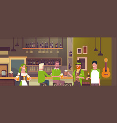 Irish pub or bar on st patricks day holiday with vector