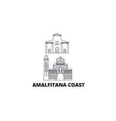 Italy amalfi coast line travel skyline set italy vector