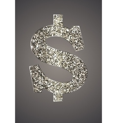 Jewelry in the form of dollars on dark background vector