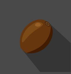 kiwi cartoon flat icondark background vector image