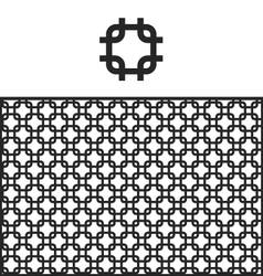 Lattice geometric pattern swatch vector image