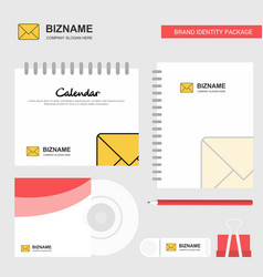 message logo calendar template cd cover diary and vector image