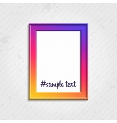 Modern picture frame vector image