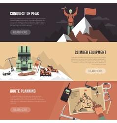 Mountaineering Design Banner vector