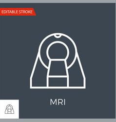 mri icon vector image
