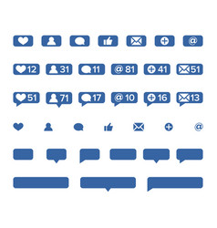 notifications icons template social vector image
