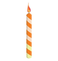 Orange birthday candle vector image