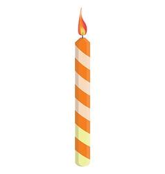 Orange birthday candle vector image