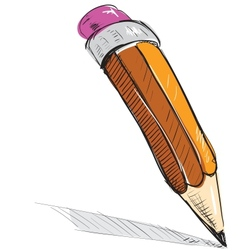 Pencil sketch cartoon vector image