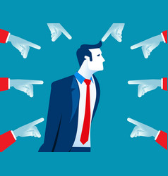 People accusatory fingers pointed at businessman vector