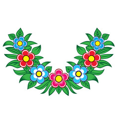 polish folk art floral design - zalipie dec vector image