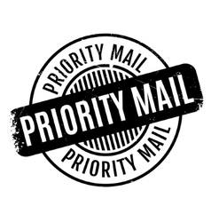 Priority Mail rubber stamp vector