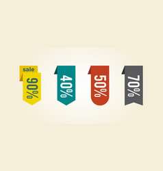 Sale clearance tags icon vector