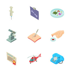saving man icons set isometric style vector image
