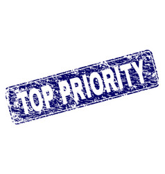 Scratched top priority framed rounded rectangle vector