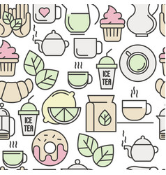 seamless pattern of tea tea ceremony vector image