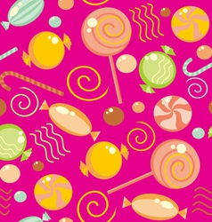 Seamless sweets background vector