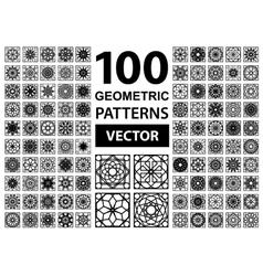 Set of Geometric Patterns vector image