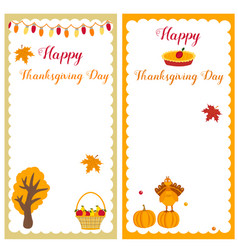 set of thanksgiving templates vector image