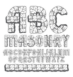 Set of trendy old capital english alphabet vector