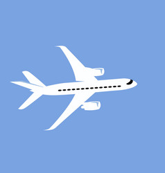 simple drawing a commercial jet vector image