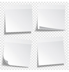 Sticky paper note with tape and shadow isolated vector