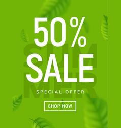 summer sale banner background summer vector image