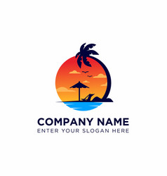 Sunset logo vector