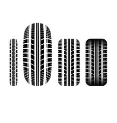 Tire track 7 vector
