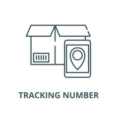tracking number line icon linear concept vector image