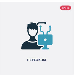 Two color it specialist icon from other concept vector