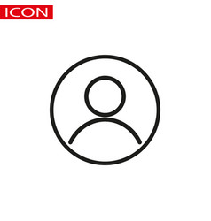 user account circular line icon round simple vector image
