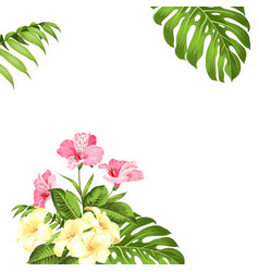 Vacation with floral garland wedding vector